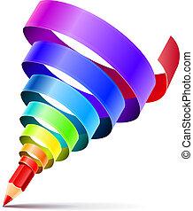 карандаш, изобразительное искусство, концепция, дизайн, творческий