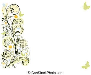 карта, весна, цветочный