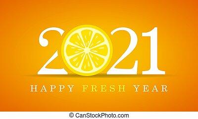 карта, приветствие, год, новый, счастливый, 2021