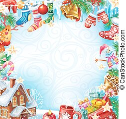 карта, рождество