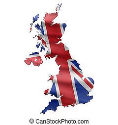 карта, флаг, uk, британская