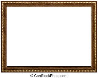 картина, вырезка, рамка, isolated, задний план, дорожка, белый