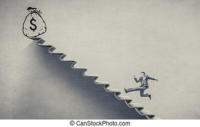 карьера, лестница, вверх