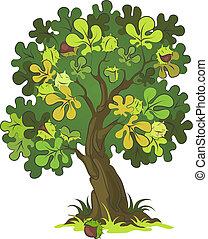 каштан, дерево