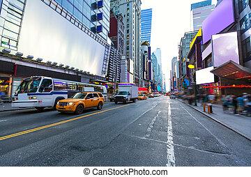 квадрат, объявления, удаленный, times, йорк, новый, манхеттен