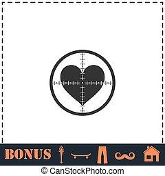 квартира, домашний очаг, crosshair, значок