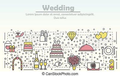 квартира, изобразительное искусство, иллюстрация, вектор, реклама, свадьба, линия