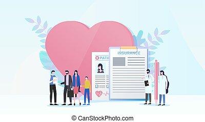 квартира, концепция, семья, вектор, здоровье, страхование