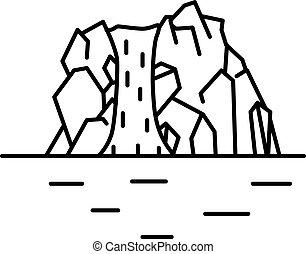 квартира, линия, водопад, изобразительное искусство, иллюстрация