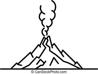 квартира, линия, изобразительное искусство, иллюстрация, вулкан
