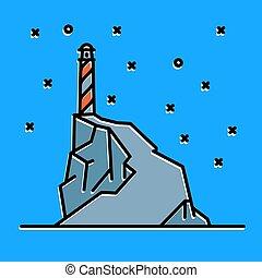 квартира, линия, изобразительное искусство, маяк, иллюстрация