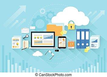 квартира, место хранения, компьютер, дизайн, устройство, безопасность, данные, облако