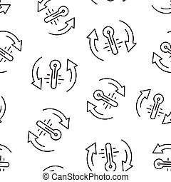 квартира, метеорология, шаблон, style., background., вектор, белый, температура, иллюстрация, горячий, термометр, контроль, isolated, бизнес, бесшовный, concept., климат, баланс, значок, холодно