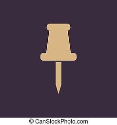 квартира, штырь, меморандум, symbol., заметка, от себя, icon., прикрепление