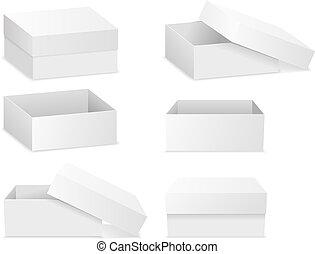 квартира, boxes, квадрат, isolated, белый