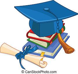 кепка, диплом, градация