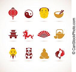 китай, коллекция, icons