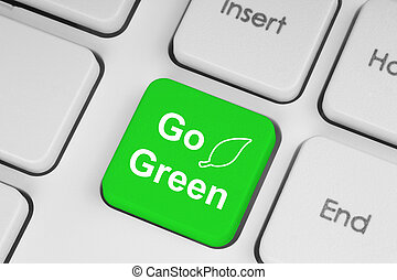клавиатура, задний план, идти, зеленый, кнопка