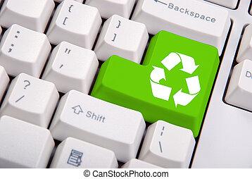 клавиатура, перерабатывать, компьютер, символ