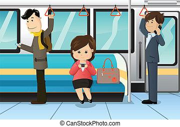 клетка, phones, поезд, с помощью, peoples