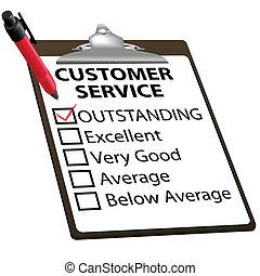 клиент, оказание услуг, форма, выдающийся, доклад, оценка