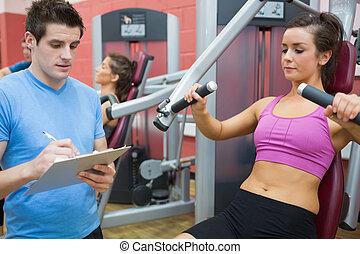 клиент, тренер, notes, машина, weights, принятие