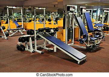клуб, фитнес, гимнастический зал