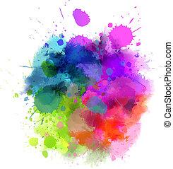 клякса, многоцветный