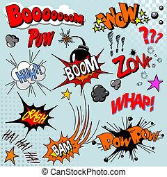 книга, взрыв, комический