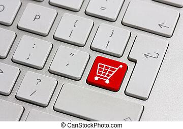 кнопка, розничная торговля, поход по магазинам