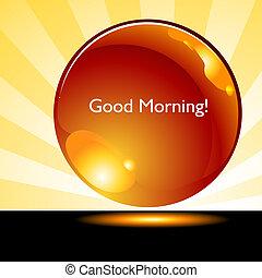 кнопка, хорошо, восход, задний план, утро