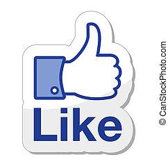 кнопка, facebook, это, как