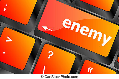 кнопка, pc, ключ, клавиатура, враг, компьютер
