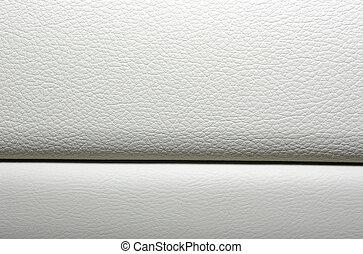 кожа, автомобиль, materials., современное, японский, background., интерьер, белый