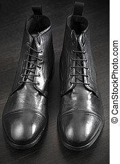 кожа, ботинки