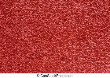 кожа, искусственный, текстура, задний план, красный, глянцевый