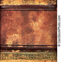 кожа, книга, связанный, подробно