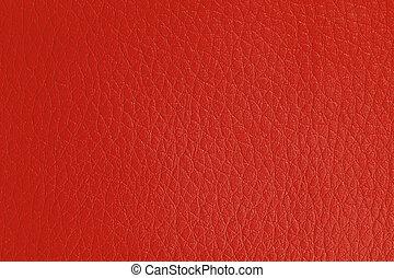 кожа, красный, задний план, текстура, искусственный
