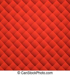 кожа, pattern., бесшовный, текстура, background., вектор, красный