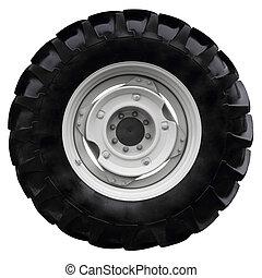 колесо, черный