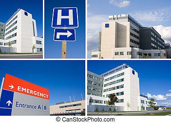 коллаж, больница, современное