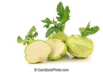 кольраби, порез, один, cabbages