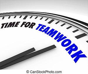 командная работа, время, -, часы