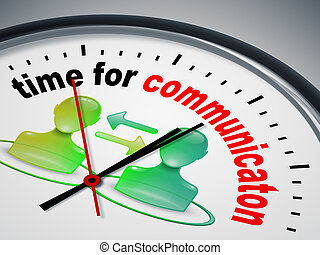 коммуникация, время