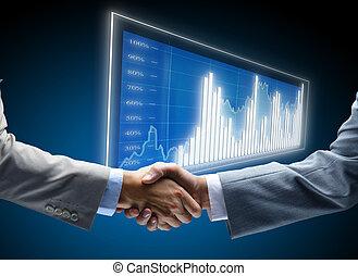коммуникация, диаграмма, бизнес, задний план, concepts, занятость, friends, дружелюбный, корпоративная, соглашение, дружба, бизнесмен, шанс, по рукам, черный, коммерция, beginnings, дисплей, темно, финансы