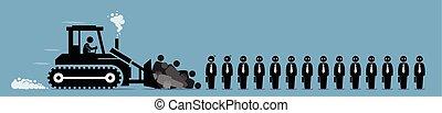 компания, работник, layoffs, работа, ретраншемент, cut.