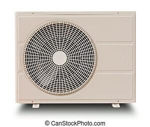 компрессор, белый, isolated, воздух