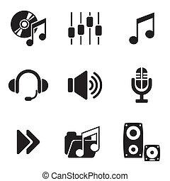компьютер, аудио, icons