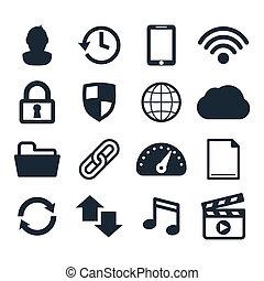 компьютер, панель приборов, icons