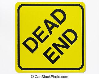конец, мертвый, дорога, знак